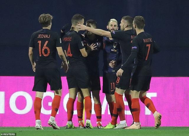 Croatia liên tục dẫn bàn ở trận đấu này