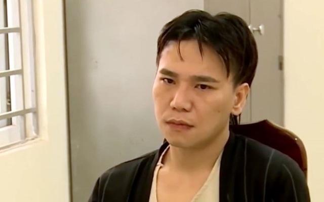 Ca sĩ Châu Việt Cường thời điểm bị cơ quan công an bắt giữ.