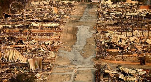 Các công trình gần như bị thiêu rụi hoàn toàn (Ảnh: LA Times)