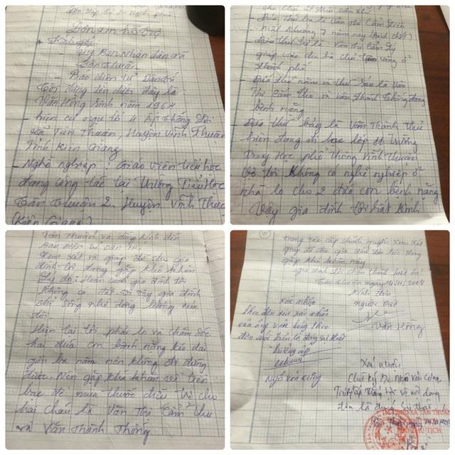Trước hoàn cảnh khó khăn của gia đình, thầy giáo Văn Hồng viết đơn gửi đến báo Dân trí nhờ bạn đọc chia sẻ, giúp gia đình vượt qua cơn khó khăn này.