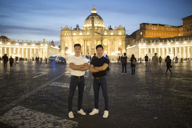 Quốc Cơ – Quốc Nghiệp thăm thú thành Rome trước khi lập kỷ lục thế giới - 11