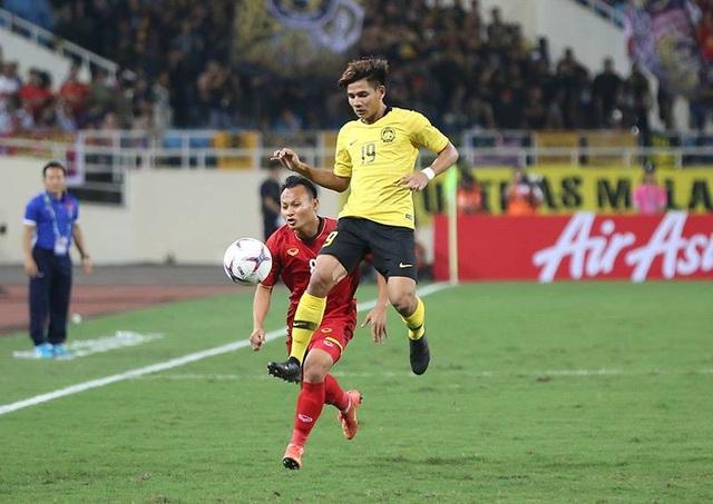 Malaysia đang chơi đầy quyết tâm trên sân Mỹ Đình
