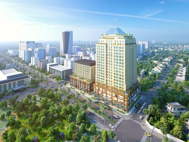 Khu phức hợp cao cấp Golden King do Công ty CP Đầu tư Phát triển Bất động sản Đông Dương đầu tư và DKRA Vietnam phân phối độc quyền.