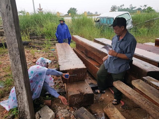 Hạt kiểm lâm huyện Tây Hòa đang tổ chức kiểm đếm