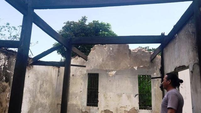 Ngôi nhà của anh Nam bị lửa thiêu rụi hoàn toàn.