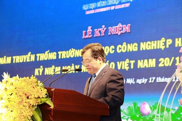 PGS.TS Trần Quý Đức nói về định hướng của trường ĐH Công nghiệp Hà Nội trong giai đoạn tới.