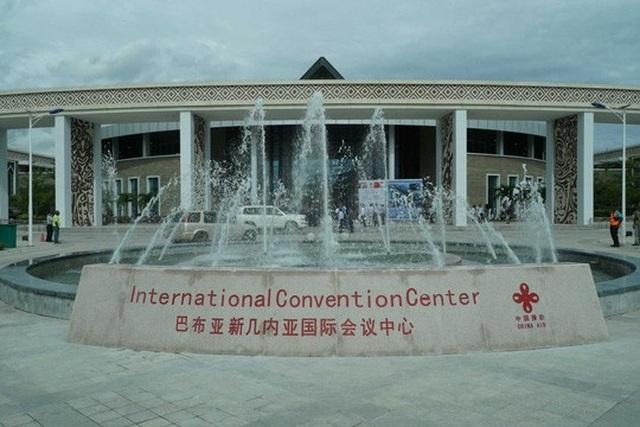 Trung tâm tổ chức Hội nghị APEC có tài trợ từ Trung Quốc. Ảnh: ABC