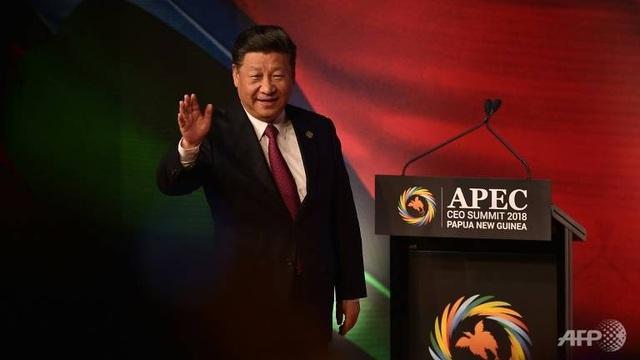 Chủ tịch Trung Quốc Tập Cận Bình phát biểu tại hội nghị APEC (Ảnh: AFP)