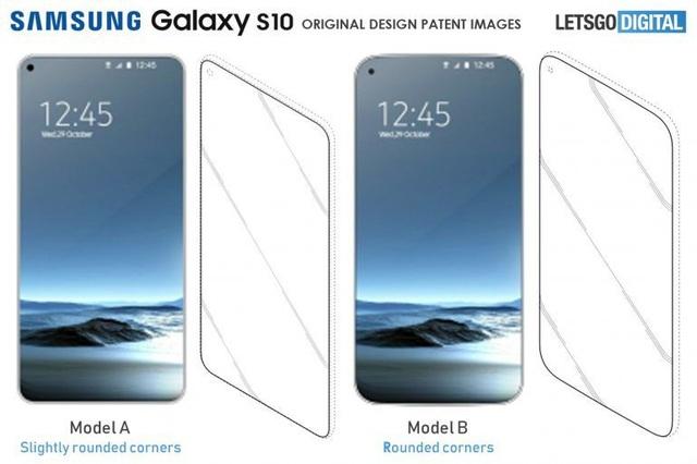 Hình ảnh về kiểu thiết kế smartphone hoàn toàn không viền được Samsung đăng ký bản quyền