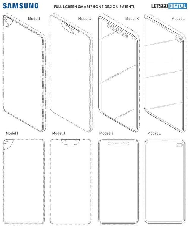"""Kiểu thiết kế màn hình """"tai thỏ"""" cũng được Samsung đăng ký bản quyền sáng chế"""