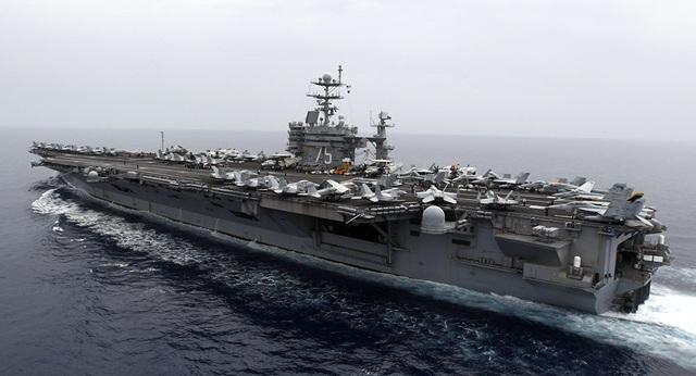 Tàu sân bay USS Harry Truman của Hải quân Mỹ (Ảnh: Sputnik)