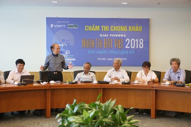 Nhà báo Phạm Huy Hoàn, Tổng Biên tập báo Dân trí, Trưởng ban tổ chức Giải thưởng NTĐV 2018.