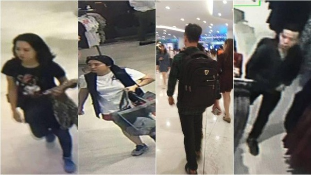 Hình ảnh các nghi phạm trích ra từ camera giám sát