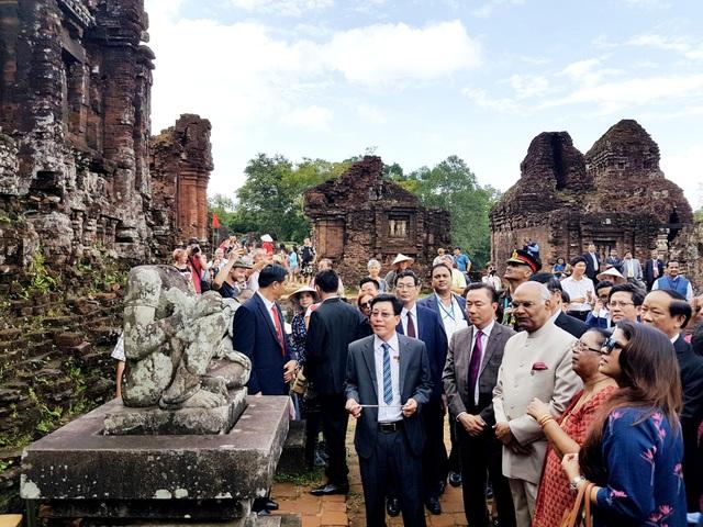 Tổng thống Ấn Độ tham quan Mỹ Sơn