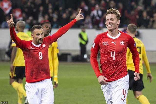 Thụy Sỹ giành vé vào bán kết UEFA Nations League, cùng với Anh, Bồ Đào Nha