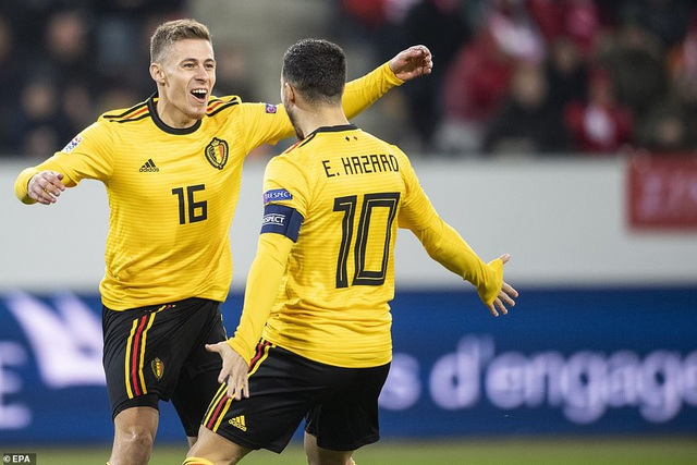 Bộ đôi Hazard là những người chơi hay nhất bên phía Bỉ