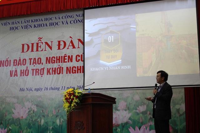 Ông Phan Văn Hiệu thẳng thắn chia sẻ tại diễn đàn Kết nối đào tạo, nghiên cứu khoa học và hỗ trợ khởi nghiệp.