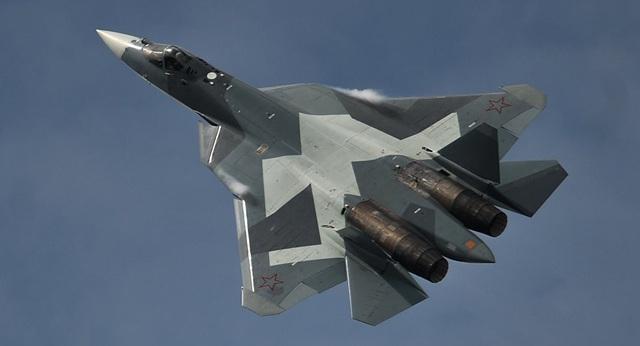 Máy bay chiến đấu Su-57 của Nga. (Ảnh: Sputnik)