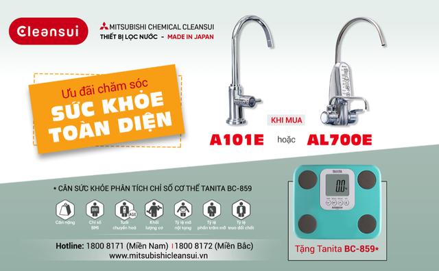 Ưu đãi chăm sóc sức khỏe toàn diện từ thương hiệu lọc nước Mitsubishi Cleansui - 1