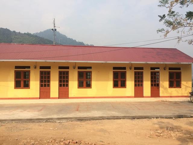 Nhà công vụ do báo Dân trí xây dựng gồm 6 phòng học vừa kịp bàn giao đưa vào sử dụng trước ngày 20/11