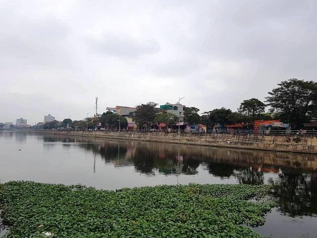 Sông Vân nơi phát hiện thi thể bà H (ảnh: Thái Bá).