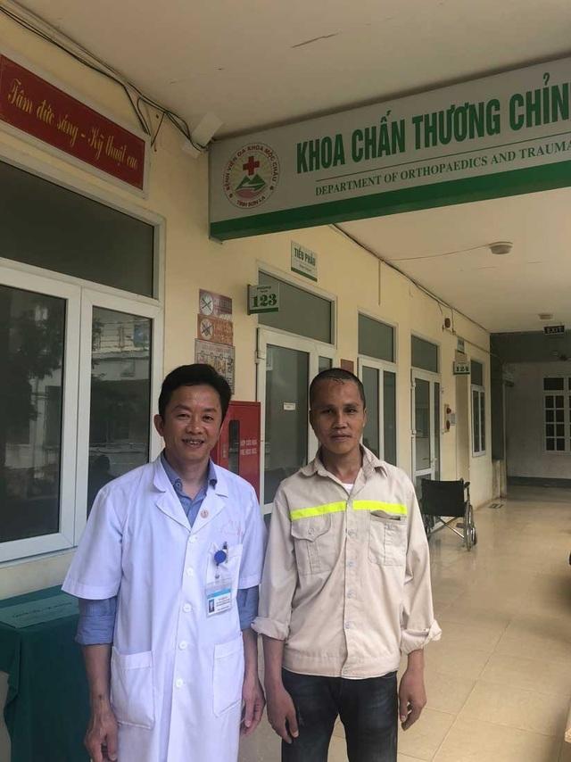 BS Vũ Giang An và bệnh nhân Tượng sáng ngày 16/11