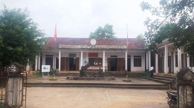 Trụ sở UBND xã Nghĩa Bình nơi xảy ra sự việc.