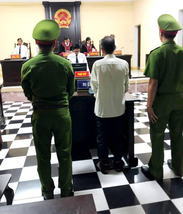 Bị cáo Nguyễn Quang Chung tại phiên tòa