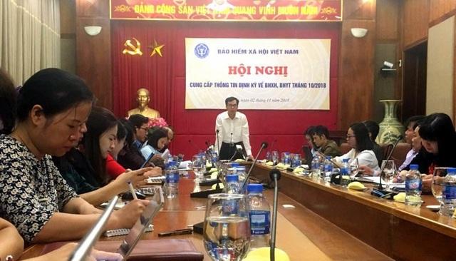 Buổi công bố thông tin về BHXH, BHYT tháng 10 của Bảo hiểm xã hội VN.