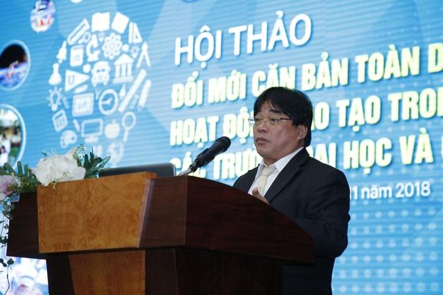 PGS.TS Đỗ Văn Dũng, Hiệu trưởng Trường Đại học Sư phạm Kỹ thuật TPHCM cho rằng các ĐH nên chia sẻ nguồn lực cùng nhau trong bối cảnh đổi mới
