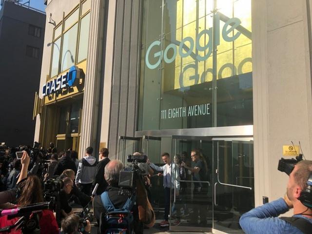 Bên ngoài văn phòng của Google tại Mỹ.