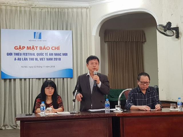 Hội Nhạc sĩ Việt Nam giới thiệu chương trình Festival quốc tế âm nhạc mới Á – Âu Việt Nam 2018.