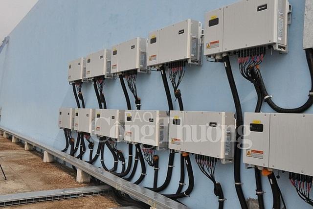 Lãnh đạo EVN SPC thăm và làm việc tại dự án điện mặt trời áp tái tại Hậu Giang.