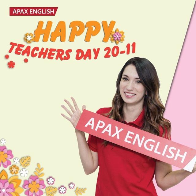 """Với thông điệp """"Teacher in my eyes"""", hàng nghìn học sinh đã thể hiện tình cảm của mình với thầy cô giáo bản ngữ."""
