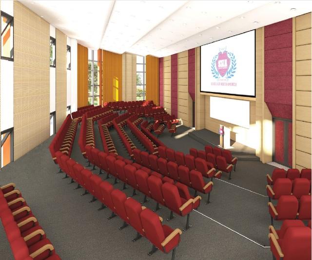 Phối cảnh hội trường Trường Quốc tế Bắc Mỹ (SNA) - IEC Quảng Ngãi.