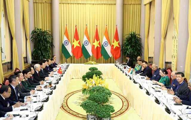Tổng Bí thư, Chủ tịch nước Nguyễn Phú Trọng đón Tổng thống Ấn Độ - 7