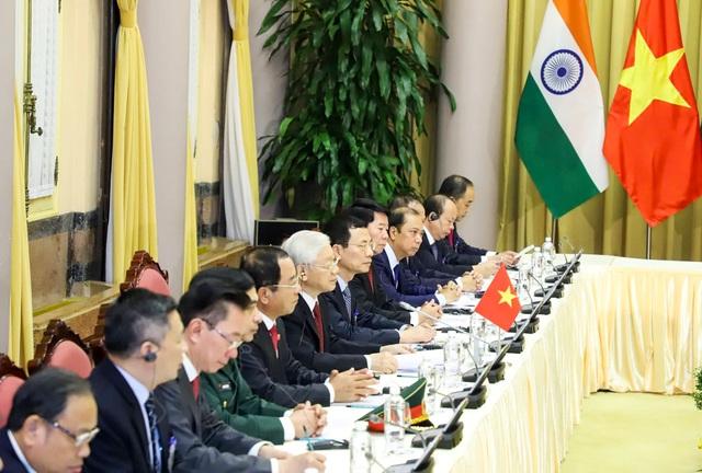 Tổng Bí thư, Chủ tịch nước Nguyễn Phú Trọng đón Tổng thống Ấn Độ - 8