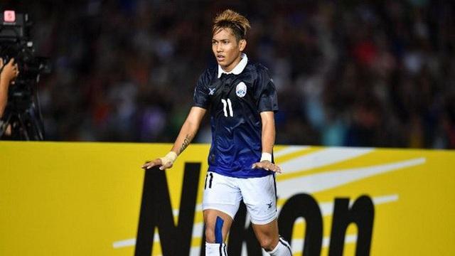 Chan Vathanka tỏa sáng giúp Campuchia có 3 điểm đầu tiên ở AFF Cup 2018