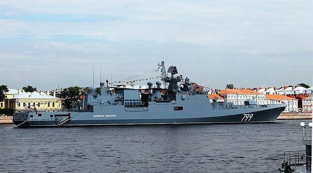 Tàu hộ vệ tên lửa Dự án 11356M lớp Grigorovich có lượng giãn nước tiêu chuẩn 3.620 tấn và lên tới 4.035 tấn khi đầy tải; chiều dài 124,8 m; chiều rộng 15,2 m; mớn nước 4,2 m; thủy thủ đoàn 200 người.