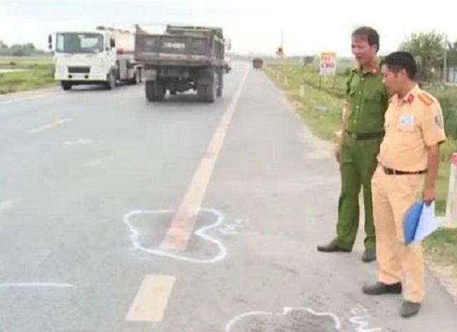 Km 70 + 900 đường tránh Quốc lộ 10 địa phận thôn Trung, xã Đông Sơn, huyện Đông Hưng, nơi xảy ra vụ việc