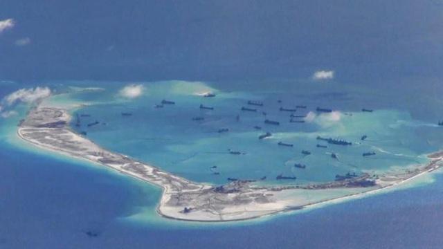 Trung Quốc bồi đắp trái phép tại quần đảo Trường Sa (Ảnh: AMTI)