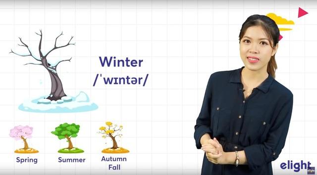Từ vựng tiếng Anh về các mùa