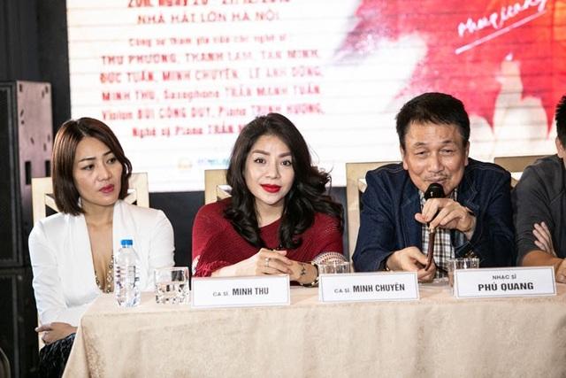Phú Quang chia sẻ tại buổi gặp gỡ phóng viên chiều ngày 20/11.