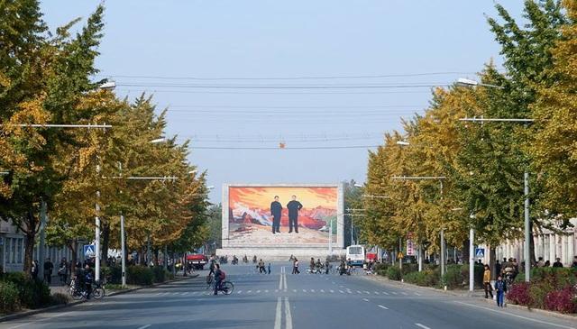 Một góc Bình Nhưỡng sắp vào mùa lá đỏ