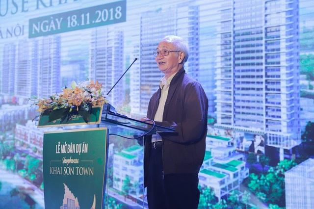 TS. Đào Ngọc Nghiêm chia sẻ tại sự kiện mở bán shophouse Khai Sơn Town ngày 18/11/2018
