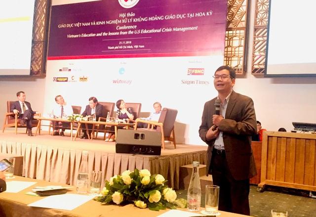 Tiến sĩ Huỳnh Thế Du chia sẻ những số liệu lạc quan của giáo dục Việt Nam