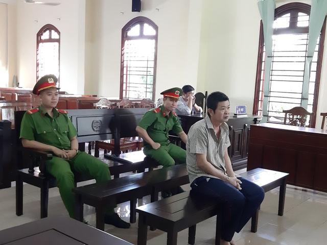 Bị cáo Thiện tại phiên toà hôm nay