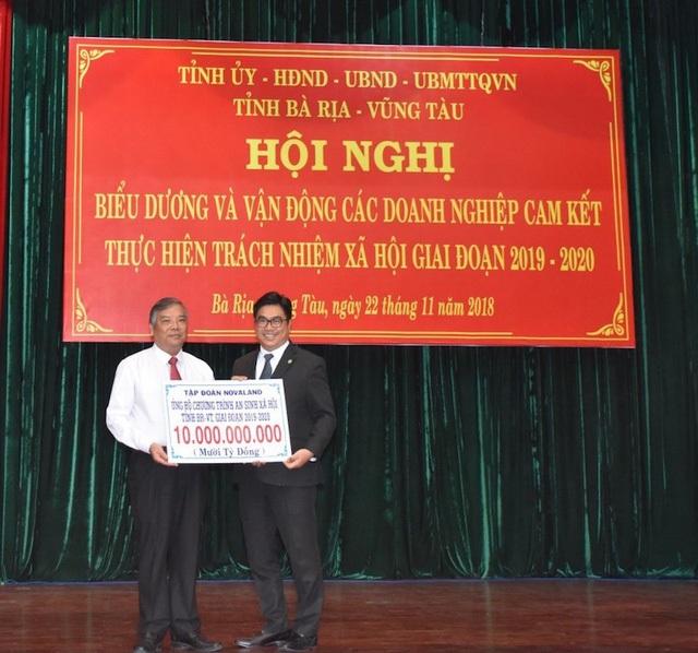 Tập đoàn Novaland ủng hộ 10 tỷ đồng đồng hành cùng chương trình an sinh xã hội của tỉnh Bà Rịa - Vũng Tàu giai đoạn 2019-2020