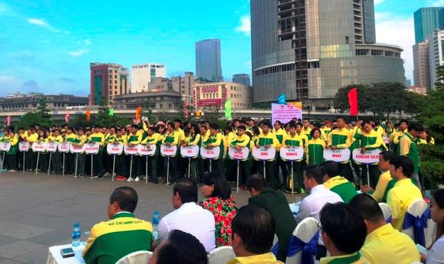 Hình ảnh lễ xuất quân của các VĐV TPHCM