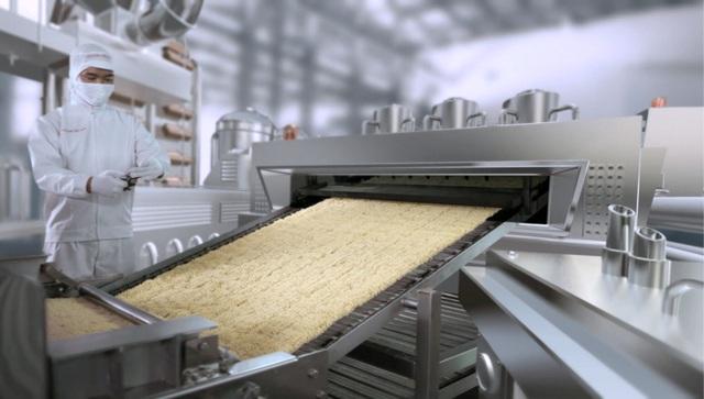 Mì ăn liền ngày nay được sản xuất trên dây chuyền hiện đại, kiểm soát chặt chẽ các tiêu chuẩn an toàn thực phẩm